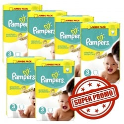 Maxi Giga Pack 435 Couches Pampers Premium Protection 3 sur 123 Couches