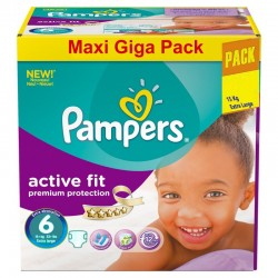 Giga Pack 248 Couches Pampers Active Fit taille 6