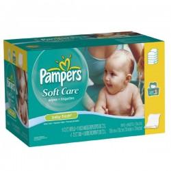 Maxi Pack d'une quantité de 192 Lingettes Bébés de Pampers Baby Fresh - 3 Packs de 64 sur 123 Couches