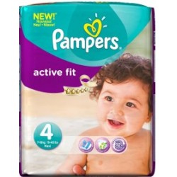 Pack de 39 Couches Pampers Active Fit de taille 4 sur 123 Couches