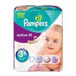 Pack 70 Couches Pampers de la gamme Active Fit de taille 3+