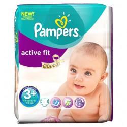 Pack 80 Couches de la marque Pampers Active Fit de taille 3+ sur 123 Couches