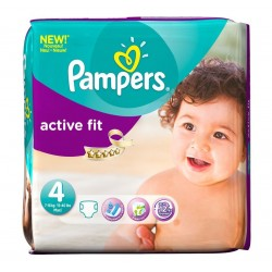 Pack 82 Couches Pampers Active Fit taille 4 sur 123 Couches