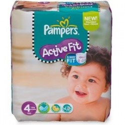 Pack 78 Couches Pampers Active Fit de taille 4 sur 123 Couches