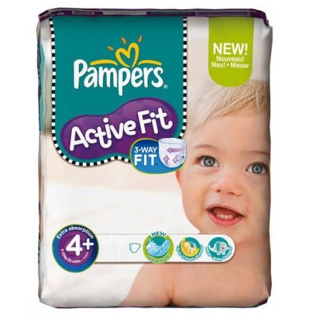Pack de 50 Couches Pampers Active Fit de taille 4+ sur 123 Couches