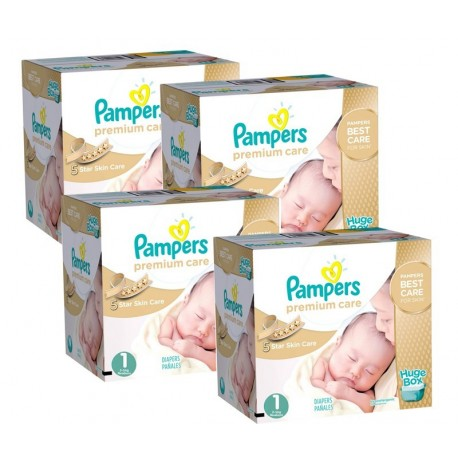 Mega Pack 308 Couches Pampers Premium Care taille 1 sur 123 Couches