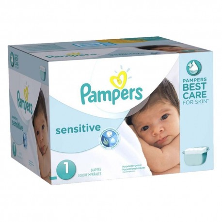 Maxi Mega pack 315 Couches Pampers New Baby Sensitive taille 1 sur 123 Couches