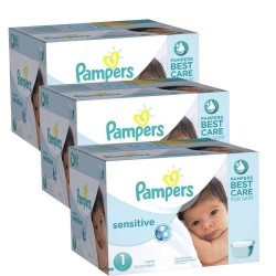 Pack économique 504 Couches Pampers New Baby Sensitive taille 1