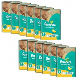 Pack économique 860 Couches Pampers New Baby Dry taille 1