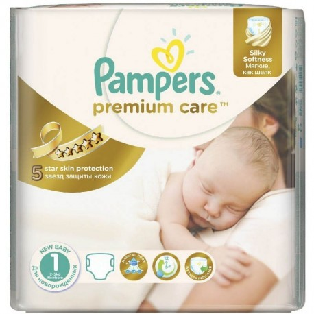 Pack 41 Couches Pampers Premium Care taille 1 sur 123 Couches