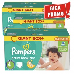 Maxi Pack 396 Couches Pampers Active Baby Dry taille 4 sur 123 Couches