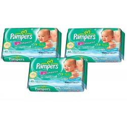 Maxi pack 189 Lingettes Bébés Pampers Fresh Clean - Made in Japan sur 123 Couches