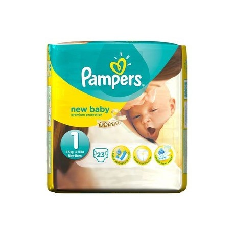 Pack 23 Couches Pampers New Baby taille 1 sur 123 Couches