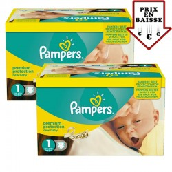 Giga pack 345 Couches Pampers New Baby taille 1