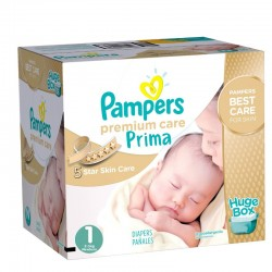 Maxi Giga pack 324 Couches Pampers Premium Care - Prima taille 1