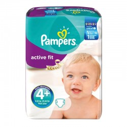 Pack 94 Couches Pampers Active Fit taille 4+ sur 123 Couches
