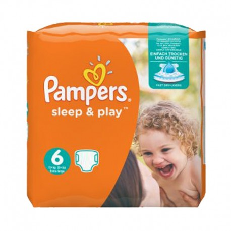 Pack 58 Couches Pampers Sleep & Play taille 6 sur 123 Couches