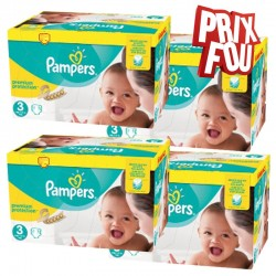 Pack Jumeaux 650 Couches Pampers Premium Protection - New Baby taille 3