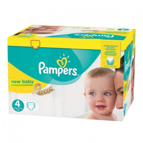 Pack 168 Couches Pampers Premium Protection - New Baby taille 4 sur 123 Couches