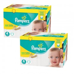 Giga Pack 336 Couches Pampers Premium Protection - New Baby taille 4 sur 123 Couches
