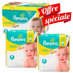 Maxi Giga Pack 672 Couches Pampers Premium Protection - New Baby taille 4