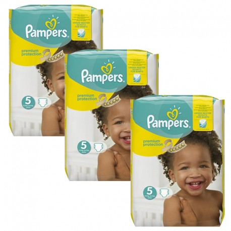 Giga Pack 204 Couches Pampers Premium Protection - New Baby taille 5 sur 123 Couches