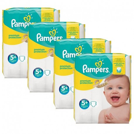 Mega Pack 160 Couches Pampers Premium Protection - New Baby taille 5+ sur 123 Couches