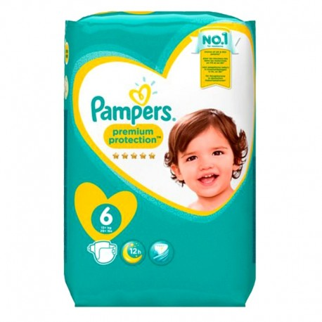 Pack 120 Couches Pampers Premium Protection - New Baby taille 6 sur 123 Couches