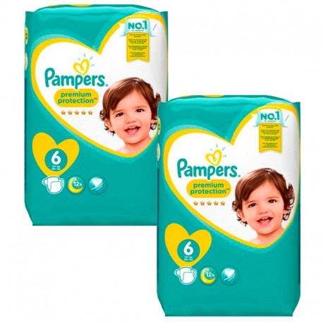 Giga Pack 240 Couches Pampers Premium Protection - New Baby taille 6 sur 123 Couches