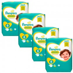 Mega Pack 96 Couches Pampers Premium Protection - New Baby taille 6 sur 123 Couches