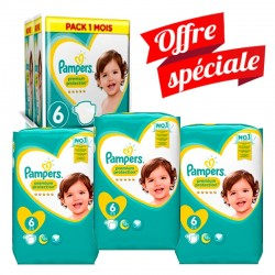 Mega Pack 217 Couches Pampers Premium Protection - New Baby taille 6 sur 123 Couches
