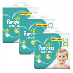 Maxi Giga Pack 140 Couches Pampers Baby Dry taille 7 sur 123 Couches