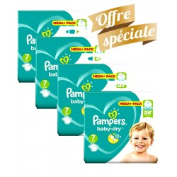 Maxi Giga Pack 308 Couches Pampers Baby Dry taille 7 sur 123 Couches