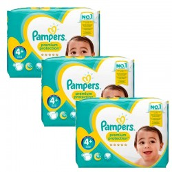 Giga Pack 186 Couches Pampers Premium Protection - New Baby taille 4+