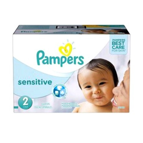 Maxi Giga Pack 360 Couches Pampers New Baby Sensitive taille 2 sur 123 Couches