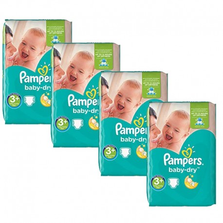 Giga Pack 188 Couches Pampers Baby Dry taille 3+ sur 123 Couches