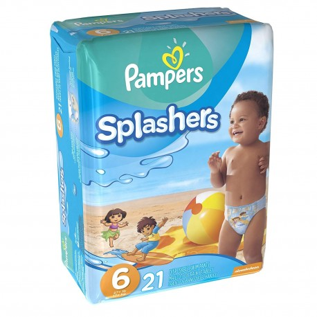 Pack 21 Couches de bains Pampers Swimming Pants Splachers taille 6 sur 123 Couches