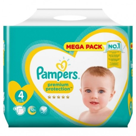 Pack 39 Couches Pampers New Baby - Premium Protection taille 4 sur 123 Couches