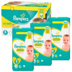 Giga Pack 270 Couches Pampers New Baby - Premium Protection taille 4 sur 123 Couches