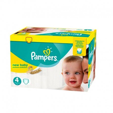 Pack 64 Couches Pampers New Baby - Premium Protection taille 4 sur 123 Couches