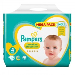 Pack 78 Couches Pampers New Baby - Premium Protection taille 4