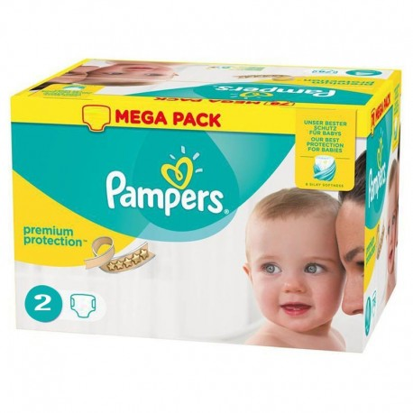 Pack 240 Couches Pampers New Baby - Premium Protection taille 2 sur 123 Couches