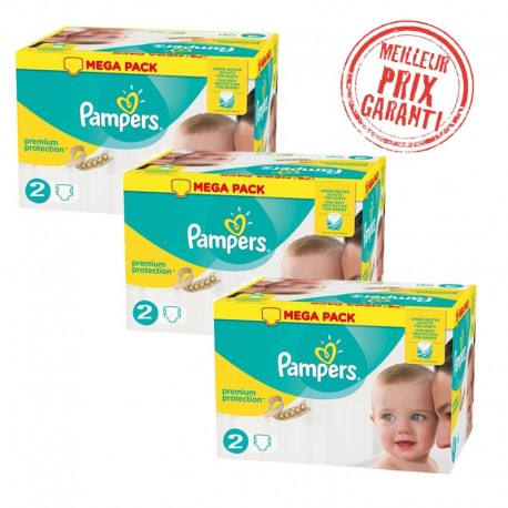 Giga Pack Jumeaux 720 Couches Pampers New Baby - Premium Protection taille 2 sur 123 Couches