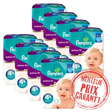Giga Pack Jumeaux 620 Couches Pampers Active Fit taille 4+ sur 123 Couches