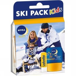 Pack Nivea Kids Ski Protection 50+ et Labello sur 123 Couches