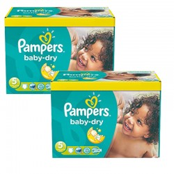Giga Pack 175 Couches Pampers Baby Dry taille 5+ sur 123 Couches