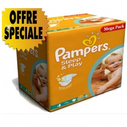 Maxi Giga Pack 432 Couches Pampers Sleep & Play taille 4