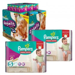 Maxi Pack 630 Couches Pampers Active Fit - Pants taille 5
