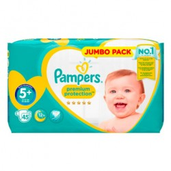 Pack 45 Couches Pampers New Baby taille 5+ sur 123 Couches