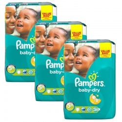 Giga Pack 168 Couches Pampers Baby Dry taille 5+